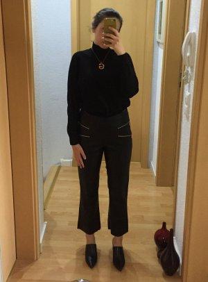 Zara Highwaist Kickflare Hose aus Lederimitat
