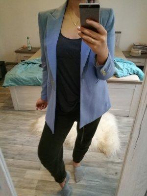 Zara himmelblauer Longblazer