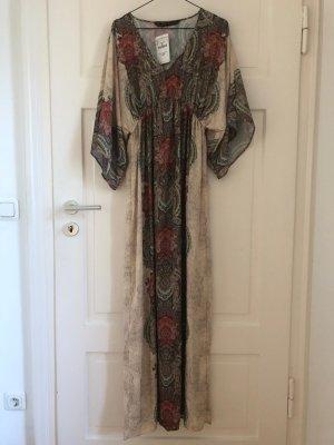 Zara Hippie Kleid Boho Maxidress Maxikleid Maxi bodenlang Dress Festival NEU Muster