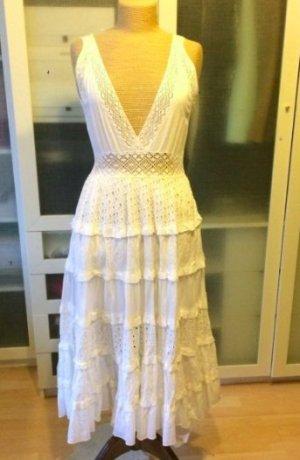 Zara Robe longue blanc coton