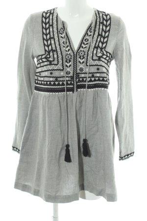 Zara Hippiekleid grau-schwarz extravaganter Stil