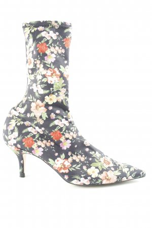 Zara Pumps met hoge zool bloemenprint extravagante stijl