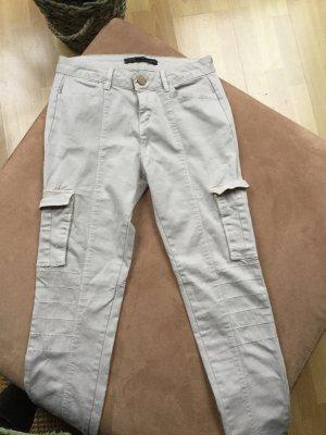 Zara Pantalón de tubo crema