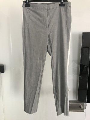 Zara Pantalone jersey grigio chiaro-bianco