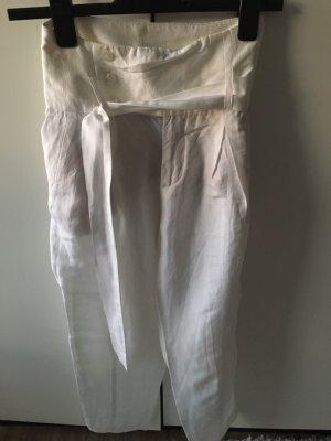 Mango Pleated Trousers white