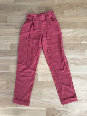Zara 7/8 Length Trousers bright red