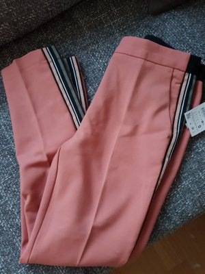 Zara Pantalone a pieghe rosa-nero