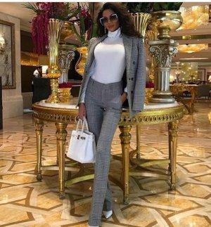 Zara Pantalone bloomers argento-nero
