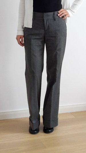 Zara Pantalon à pinces gris polyester