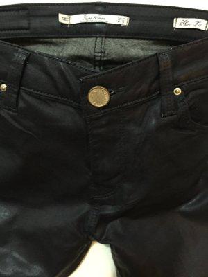 Zara Pantalon bleu foncé-noir