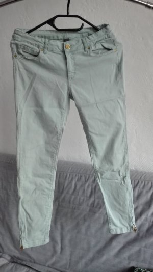 Zara Jeans a 7/8 verde chiaro-menta