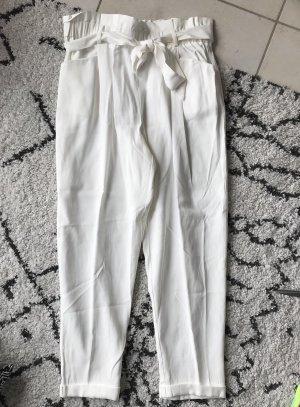 Zara Pantalón de pinza alto blanco puro-blanco