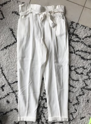 Zara Pantalon fuselé blanc cassé-blanc