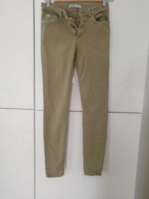 Zara Hose Jeans 36 khaki