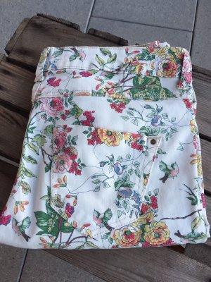 ZARA Hose Jeans Blumen NEU!!