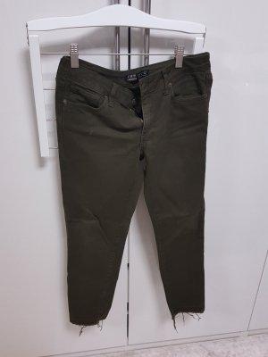 Zara Hose Jeans grün