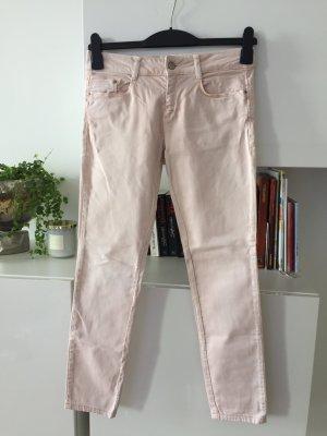 Zara Pantalón de tubo rosa-rosa claro