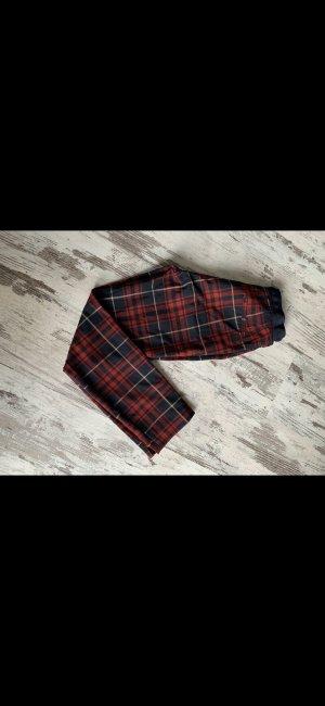 Zara Basic Peg Top Trousers dark red-black
