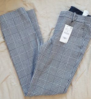 Zara Pantalon à pinces noir-blanc