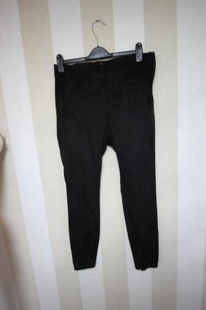 ZARA HOSE LEGGINGS VELOUR LEDER LOOK GR XXL