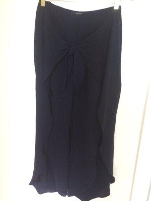Zara Pantalón de cintura alta azul oscuro