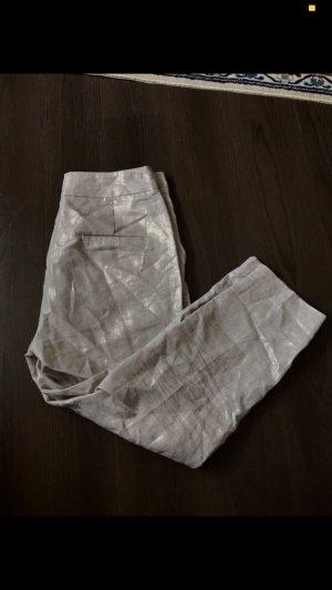Zara Pantalón de cintura alta beige claro-crema