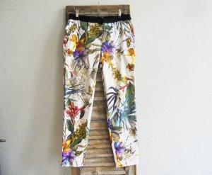 Zara Hose Röhre Tropical Blumenprint  Gr.M