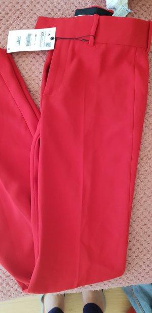 Zara Pantalone di lino rosso