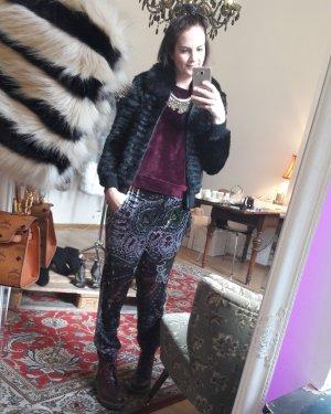 Zara Hose Samthose Samt Velvet Jogger Joggers Loose fit Boyfriend M