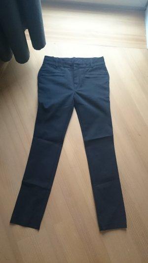 Zara Woman Pantalón de tubo negro Algodón