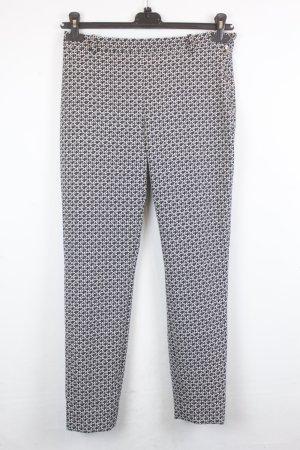 Zara Hose Stoffhose Gr. M schwarz weiß Muster (18/2/283)