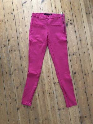 ZARA Hose Stretch Skinny Leggings Pink Neon Rosa