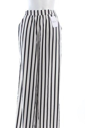 Zara Hose weiß-schwarz klassischer Stil