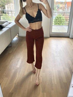 Zara Hose XS 34 Culottes Rost Rot Braun