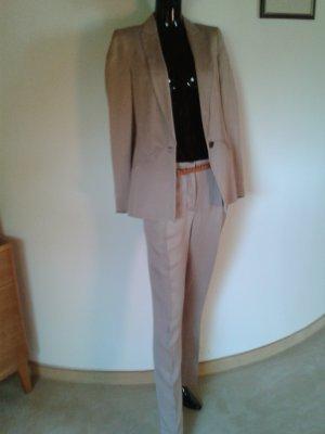 Zara Trouser Suit beige cotton