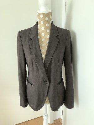 Zara Basic Traje de pantalón marrón oscuro