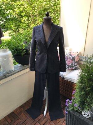 Zara Broekpak antraciet-donkerblauw Katoen