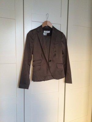 Zara Hosenanzug khaki graugrün schimmernd edel
