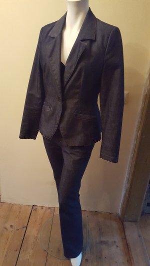 Zara Basic Tailleur-pantalon bronze-bleu foncé