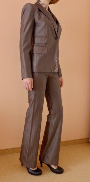 Zara Abito business marrone-grigio Tessuto misto