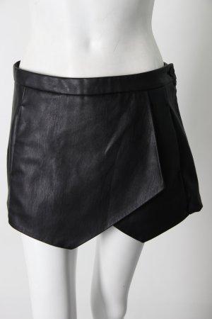 Zara Hosenrock schwarz Lederimitat