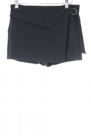 Zara Culotte Skirt black-white spot pattern casual look