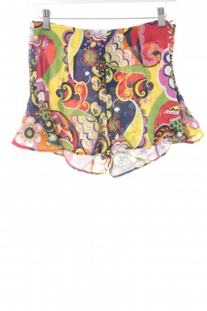 Zara Hot Pants Allover-Druck Retro-Look