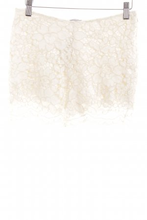 Zara Hot Pants creme Spitzen-Optik
