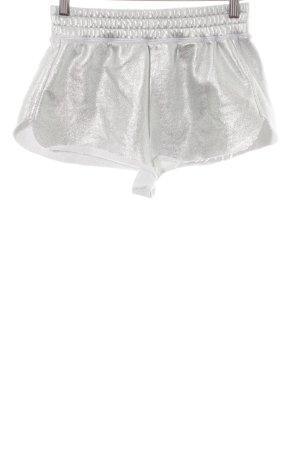 Zara Hot Pants silberfarben Metallic-Optik