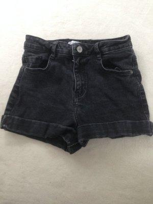 Zara Pantalon taille haute noir-gris foncé