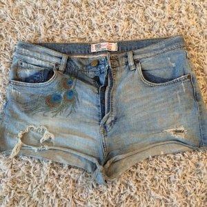 Zara Hotpants Hose Gr.40 Used Look Jeans!