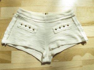 Zara Hotpants Shorts Hose Pants Creme S XS 34 36 Nieten