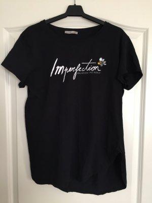 Zara Imperfection T-Shirt schwarz mit Steinchen