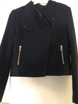 Zara Chaqueta para exteriores azul oscuro acetato